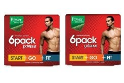 2 x Power Health 6 pack Extreme - Start, Go, Fit -  Αποτελεσματικό Αδυνάτισμα για όμορφο & καλοσχηματισμένο Ανδρικό Σώμα, 2 x (3 x 30 caps)