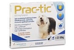 Premier Shukuroglou Prac-Tic Διάλυμα για τη Θεραπεία & την Πρόληψη των Παρασιτώσεων από Ψύλλους & Κρότωνες, για Σκύλους από 22 - 50 kg, 3 πιπέτες x 5 ml