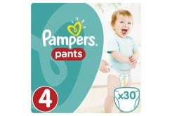 Pampers Pants Value Pack No.4 (Maxi) 9-14 kg Βρεφικές Πάνες Βρακάκι, 30 τεμάχια