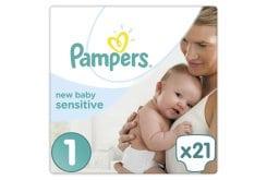 """Εικόνα του """"Pampers New Baby Sensitive No. 1 (2-5 Kg) Βρεφικές Πάνες, 21 τεμάχια """""""