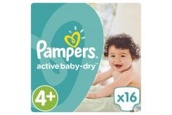 Pampers Active Baby Dry Carry Pack No.4+ (Maxi+) 9-16 kg Βρεφικές Πάνες, 16 τεμάχια