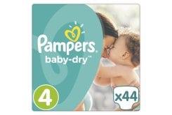 """Εικόνα του """"Pampers Baby-Dry No. 4 (8 - 16Kg) ΕΚΠΤΩΤΙΚΟΣ ΚΩΔΙΚΟΣ Βρεφικές Πάνες, 44 τμχ"""""""