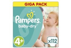 Pampers Baby Dry Maxi Plus No. 4+ (9-20 kg) Giga Pack - ΜΟΝΟ ΜΕ 0,28€ ΑΝΑ ΠΑΝΑ ! - Βρεφικές Πάνες, 112 τμχ
