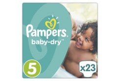 Pampers Baby Dry No. 5 ( 11 - 23 Kg) ΕΚΠΤΩΤΙΚΟΣ ΚΩΔΙΚΟΣ Βρεφικές Πάνες, 23 τμχ