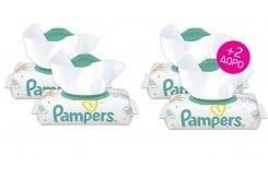 4 x Pampers Sensitive Wipes (2+2 ΔΩΡΟ) Μωρομάντηλα για την Αλλαγή Πάνας - Ανταλλακτικό, 4 x 56 τεμάχια