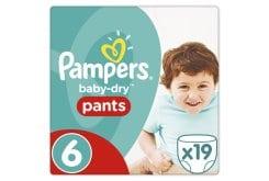 """Εικόνα του """"Pampers Baby Dry Pants Extra Large No. 6 (16+ Kg) Πάνα Βρακάκι, 19 τεμάχια """""""