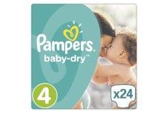 """Εικόνα του """"Pampers Baby Dry Maxi Plus No. 4+ (9-20 kg) Βρεφικές Πάνες, 24 τμχ """""""