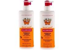 """Εικόνα του """"2 x Klorane Petit Junior Shampoo with Peach Fragrance Υποαλλεργικό Σαμπουάν, -50% ΤΟ ΔΕΥΤΕΡΟ ΠΡΟΪΟΝ, με Άρωμα Ροδάκινο, 2 x 500 ml """""""
