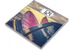 """Εικόνα του """"Beurer GS 203 Surf Γυάλινη Απλή Ψηφιακή Ζυγαριά με Παράσταση από Σερφς, 1 τεμάχιο"""""""