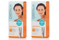"""Εικόνα του """"2 x Castalia Helioderm Fluide SPF50+ +50% ΔΩΡΕΑΝ ΠΡΟΪΟΝ Αντιηλιακή Κρέμα Προσώπου για Κανονικές, Μικτές & Ευαίσθητες Επιδερμίδες, 2 x 60 ml"""""""