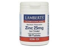 """Εικόνα του """"Lamberts Zinc Citrate 25mg Συμπλήρωμα Ψευδάργυρου, 120 tabs """""""