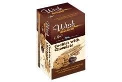 Wish Biscuit Cookies Μπισκότα cookies με σοκολάτα, 90gr