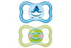 Mam Air Smile (275S) Ορθοδοντική Πιπίλα από Φυσικό Latex, για βρέφη 16m+, 2 τεμάχια - Πράσινο