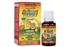 Nature's Plus Animal Parade Vitamin D3 Drops Πόσιμες Σταγόνες Βιταμίνης D για Παιδιά, με γεύση Πορτοκάλι, 10ml