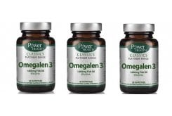 3 x Power Health CLASSICS Platinum Range, Omegalen 3 λιπαρά οξέα των 1.000mg, 3 x 30 κάψουλες
