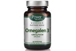 Power Health CLASSICS Platinum Range, Omegalen 3 λιπαρά οξέα των 1.000mg, 30 κάψουλες