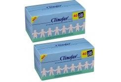 2 x CLINOFAR Αμπούλες, μίας χρήσεως, με αποστειρωμένο φυσιολογικό ορό για την καθημερινή υγιεινή της μύτης των βρεφών, 2 x 60 amps (40 + 20 ΔΩΡΟ) των 5ml