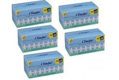 5 x CLINOFAR Αμπούλες, μίας χρήσεως, με αποστειρωμένο φυσιολογικό ορό για την καθημερινή υγιεινή της μύτης των βρεφών, 5 x 60 amps (40 + 20 ΔΩΡΟ) των 5ml