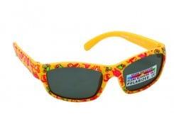 Vitorgan Eyelead Polarized Κ1005 Παιδικά / Βρεφικά Γυαλιά Ηλίου Καουτσούκ σε Χρώμα Κίτρινο με Ζωάκια ,Συνοδεύεται από ειδική προστατευτική θήκη - πουγκί απο 0-12 μηνών ,1τμχ
