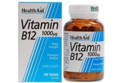 Health Aid Vitamin B12 1000mg, 100 tabs