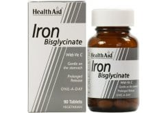 Health Aid Iron Bisglycinate with Vit C 30mg, 90 tabs