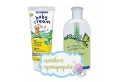 Frezyderm Baby ΠΑΚΕΤΟ με Baby Cream Απαλή, Προστατευτική & Αδιάβροχη Κρέμα για την Αλλαγή της Πάνας, 175ml & Μαζί Baby Oil Ελαφρά Αρωματισμένο Μαλακτικό Λάδι Σώματος, 200ml