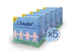 5 x Clinofar Physiological Saline, 5 x 15 amps of 5ml