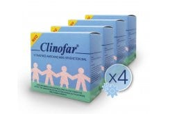 4 x Clinofar Physiological Saline, 4 x 15 amps of 5ml