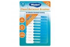 Wisdom Clean Between Brushes Μεσοδόντια Βουρτσάκια για Μικρά Διαστήματα Πολλαπλών Χρήσεων, 20 τεμ.