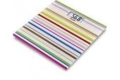 Beurer GS 27 Happy Stripes Απλή Γυάλινη Ζυγαριά, 1 τεμάχιο