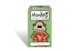 """Εικόνα του """"Monkey Omega 3 Plus Συμπλήρωμα Ωμέγα 3 για Παιδιά 3+ ετών με Γεύση Πορτοκάλι, 30 chew gels """""""