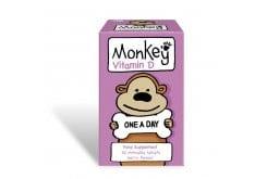 """Εικόνα του """"Monkey Βιταμίνη D Συμπλήρωμα Βιταμίνης D3 για Παιδιά 3+ ετών με Γεύση Μούρου, 30 chew gels """""""