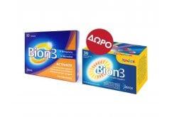 Merck Bion 3 Activate Συμπλήρωμα με συνδυασμό 3 Προβιοτικών, 30 δισκία & ΔΩΡΟ Bion 3 Junior Συμπλήρωμα Προβιοτικών για Παιδιά, 30 chew. tabs