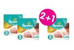 """Εικόνα του """"3 x Pampers Premium Care Mega Pack No.5 (Junior) 11-18 kg (2+1 ΔΩΡΟ) Βρεφικές Πάνες, 3 x 88 τεμάχια"""""""