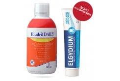 Elgydium Eludril Daily Στοματικό Διάλυμα για την Οδοντική Υπερευαισθησία, με γεύση κίτρο, 500ml & ΔΩΡΟ Elgydium Anti-plaque Οδοντόκρεμα κατά της Βακτηριακής Πλάκας, 38ml
