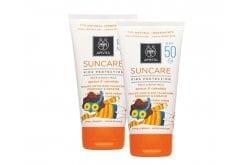 2 x Apivita Suncare Kids Protection Face & Body Milk SPF50 Παιδικό Αντιηλιακό Γαλάκτωμα για πρόσωπο & σώμα, με Βερύκοκο & Καλέντουλα, 2 x 150ml