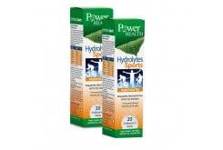 2 x Power Health Hydrolytes Sports Αναβράζων Συμπλήρωμα Διατροφής με Ηλεκτρολύτες, 2 x 20 eff. tabs