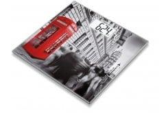 """Εικόνα του """"Beurer GS 203 London Γυάλινη Απλή Ψηφιακή Ζυγαριά με Παράσταση από το Λονδίνο, 1 τεμάχιο """""""