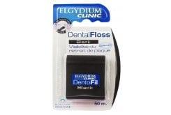 Elgydium Dental Floss Black Οδοντικό Νήμα με Μαύρο Χρώμα, Ελαφρά Κερωμένο & Εμποτισμένο με Χλωρεξιδίνη, 50m