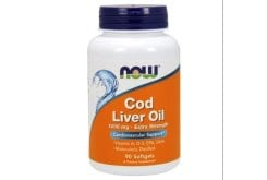 Now Cod Liver Oil Extra Strength 1000mg Συμπλήρωμα Διατροφής από Μουρουνέλαιο Πλούσιο σε Ωμέγα 3 Λιπαρά Οξέα, 90 Softgels