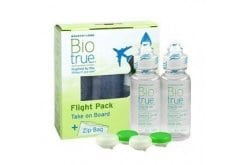 Bausch + Lomb BioTrue Flight Pack Υγρό Φακών Επαφής Πολλαπλών Χρήσεων, Συσκευασία που μπορείτε να έχετε μαζί στο Αεροπλάνο, 2 x 60ml