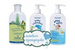 """Εικόνα του """"Frezyderm Baby ΠΑΚΕΤΟ με Baby Bath Απαλό Αφρόλουτρο Καθημερινής Χρήσης, 300ml, Baby Oil Ελαφρά Αρωματισμένο Μαλακτικό Λάδι Σώματος, 200ml & Baby Shampoo Απαλό Σαμπουάν Καθημερινής Χρήσης, 300ml """""""