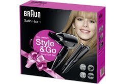 Braun Style & Go Satin Hair 1 Σετ Ταξιδίου Σεσουάρ & Ισιωτική, 2 τεμάχια