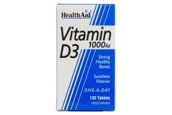 """Εικόνα του """"Health Aid Vitamin D3 1000 i.u. Συμπλήρωμα Βιταμίνης D3, 120 tabs """""""