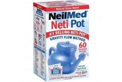 NeilMed NasaFlo Le Pot Neti Σύστημα Φυσικής Θεραπευτικής Ανακούφισης των Ρινικών Παθήσεων, 60 φάκελλοι
