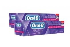 OralB 3D White Luxe Glamorous Shine Οδοντόκρεμα (1+1 ΔΩΡΟ), 2 x 75 ml