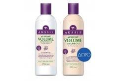 """Εικόνα του """"Aussie Aussome Volume Conditioner Κρέμα Μαλλιών Eμπλουτισμένη με Αυστραλιανό Λυκίσκο, 250ml & ΔΩΡΟ Aussie Aussome Volume Shampoo Σαμπουάν για Πλούσιο Όγκο, 250ml """""""