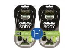 """Εικόνα του """"Gillette Body Ξυριστικές Μηχανές μιας Χρήσεως για το Ανδρικό Σώμα (1+1 ΔΩΡΟ), 2 x 3 τεμάχια """""""