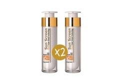 """Εικόνα του """"2 x Frezyderm Sun Screen Colour Velvet Face Cream SPF50+ Αντηλιακή Κρέμα Προσώπου με Χρώμα, 2 x 50ml """""""