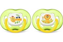 Philips Avent Freeflow Soothers 18m+ Green, 2pcs